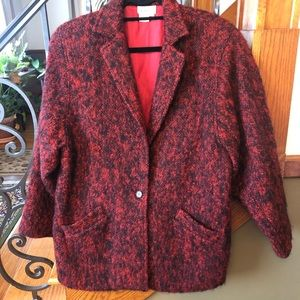Saks Fifth Ave. Vintage Mohair Wool Blazer 10